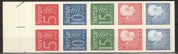 Sweden,  1966  -Booklet Gustav VI & Numeral Stamps MNH** Yv. C470c(I) HA12 - Carnets