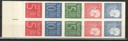 Sweden,  1966  -Booklet Gustav VI & Numeral Stamps MNH** Yv. C470c(II) HA12 - Carnets