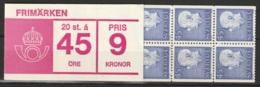 Sweden,  1967  -Booklet Gustav VI Yv. C567a MNH/**/ Postfrisch 20x45 öre Facit H190 - Carnets