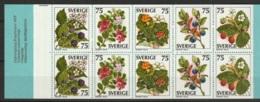 Sweden,  1977 Wild Fruits. C975 ** MNH/Postfrisch H301 - Carnets