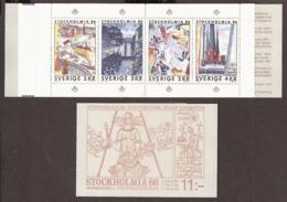 Suede, Sweden - 1985 Stockholmia 86  Carnet  C1316 Booklet MNH/**/Postfrisch - Carnets