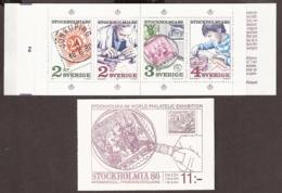 Suede, Sweden - 1986 Stockholmia 86, C1357 Carnet Booklet MNH/**/Postfrisch - Carnets
