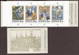 Suede, Sweden - 1986 Stockholmia 86, H371 Carnet Booklet MiNr. 1399 MNH/**/Postfrisch - Carnets
