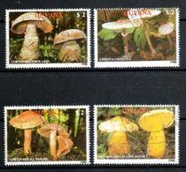 GUYANA CHAMPIGNONS 1989 (16) N° Yvert 2077 à 2080 Oblitéré Used - Guyane (1966-...)