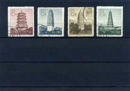 Chine  1958   Obl.   365/68 - Usati