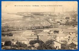En L'état CPA 64 Environs De Bayonne (LE) BOUCAU Pyrénées-Atlantiques - Les Forges Et L'embouchure De L'Adour (Train) - Boucau