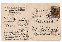 1930 KINGDOM OF SHS, CROATIA, ZAGREB TO VEL. BEČKEREK,SERBIA,JOVAN MEZEI,PHOTO ENLARGEMENT,CORRESPONDENCE CARD,USED - Slovénie