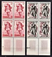 FRANCE 1953 - 2 BLOCS DE 4 TP / Y.T. N° 943 ET 944 - NEUFS** - Nuovi