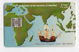 MAURICE Ref MV Cards MAU-43  115 U 500h Anniversaire De La Decouverte De L'ile Maurice Date 2000 - Mauritius