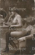Brunette Pretty WOMAN FEMME Art NUDE NU - Vintage French Photo Postal Postcard 1920' - Ethnics
