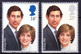 GRANDE BRETAGNE 1981 YT N° 1001 Et 1002 ** - 1952-.... (Elizabeth II)