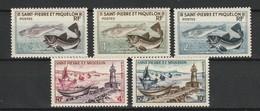 SAINT PIERRE ET MIQUELON 1957 YT N° 353 à 357 ** - St.Pierre & Miquelon