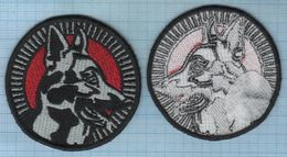 LITHUANIA / Patch Abzeichen Parche Ecusson /  Police. Dog. Canine K-9 - Ecussons Tissu