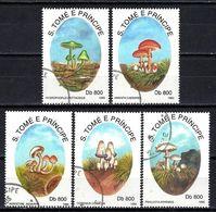 SAINT THOMAS ET PRINCE CHAMPIGNONS 1993 (47) N° Yvert 1147 à 1151 Oblitéré Used - Sao Tome Et Principe