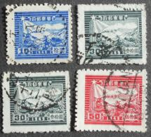 Eastern China 1949 Regular Issue, Mi #48-51, Perf. 12 1/2, 14, Used - China
