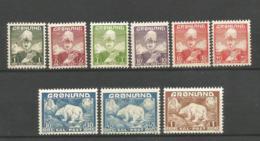 Greenland 1938/1946 2 Compete Sets, Mi #1-7, 26-27, MNH, CV=72EUR - Greenland