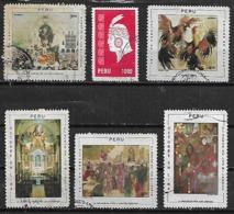 1970-8 Peru El Señor De Los Milagros Riña De Gallos Altar Procesion-inca 6v. - Perú