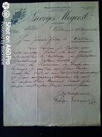 1898 - GEORGES MEYER & Cie LONDON  X WOHLEN - MANUFACTURE DE PAILLE - Ver. Königreich