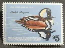 USA 1978 Hunting Permit Stamps, 5$, SC #RW45, MNH, CV=13$ - United States