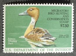 USA 1986 Hunting Permit Stamps, 7.5$, SC #RW53, MH, CV=15$ - United States