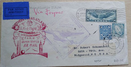 Ireland 1939 Cover, First Flight, Shediac-New York, Used - Other