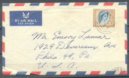 Rhodesia & Nyasaland Cover, Makwasa-USA, 1 Stamp, Used - Zuid-Rhodesië (...-1964)