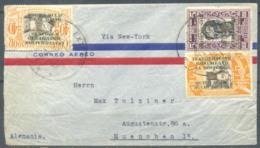 Ecuador 1935 Cover, Sent To Germany Via New York, 3 Stamps, Used - Ecuador