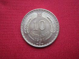 Chile 10 Centesimos 1961 - Chile