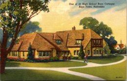 Nebraska Boys Town One Of 25 High School Boys Cottages Curteich - Autres