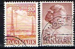 DANEMARK /Oblitérés/Used/1950 - 25 Ans Radio Diffusion D'état Et Portrait De La Princesse Anne Marie - Denmark