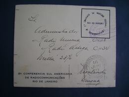 OFFICIAL ENVELOPE OF THE 2nd CONF. SOUTH AMERICAN RADIOCOMMUNICATIONS IN BRAZIL IN 1937 - Timbres