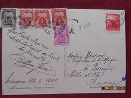 Carte D'Italie De 1946 à Destination De Beaune (france) Avec Taxes Francaises - 1944-46 Lieutenance & Humbert II