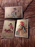 Lot 3 Magnifique 11x7 Cm Vignette En Papier  Publicitaire Pour Chocolat  Robert Et Saintoin Freres - Affiches