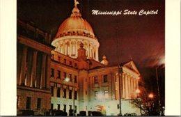 Mississippi Jackson State Capitol At Night - Jackson