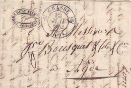 LAC De Grasse (06) Pour Agde (34) - 11 Mai 1832 - CAD Rond Type 12 & Dateur A - Taxe Manuelle 6 - 1801-1848: Precursori XIX