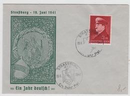 Deutsche Besetzung Elsass Brief Mit EF+SST - Occupation 1938-45