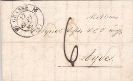 LAC De Grasse (06) Pour Agde (34) - 17 Septembre 1834 - CAD Rond Type 11 & 12 - Taxe Manuelle 6 - 1801-1848: Precursori XIX