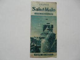 VIEUX PAPIERS - DEPLIANT TOURISTIQUE : SAINT MALO - Tourism Brochures
