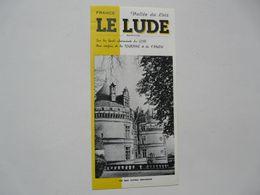 VIEUX PAPIERS - DEPLIANT TOURISTIQUE : LE LUDE - Tourism Brochures