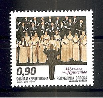 "Bosnia Serbia 2018 125 Years Anniversary Of Singing Society ""Jedinstvo"" Music Conductor Choir Stamp MNH - Bosnia Herzegovina"