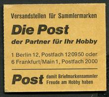 Markenheftchen MiNr. MH19 Postfrisch / MNH / Neuf - BRD