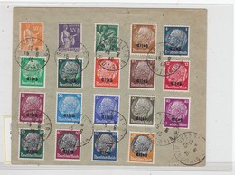 Deutsche Besetzung Elsass Netter Satzbrief - Bezetting 1938-45