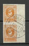 Estland Estonia 1919 Michel 6 As A Pair + Sheet Margin O Tallinn - Estonia