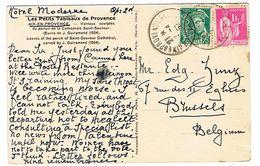 COMBINAISON PAIX MERCURE SUR CPA POUR LA BELGIQUE - 1921-1960: Période Moderne