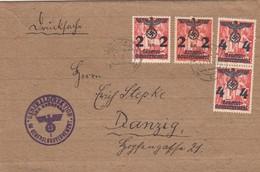 GG: Zeitungsdrucksache Streifband Krakau Als Drucksache Nach Danzig - Besetzungen 1938-45