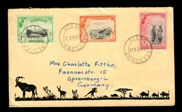 Letter 1958 Stegi, Swaziland To Spremberg - Swaziland (1968-...)