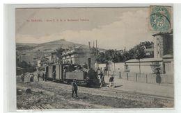 69 TARARE #12044 GARE C. F. B. ET BOULEVARD VOLTAIRE N° 10 TRAIN LOCOMOTIVE - Tarare