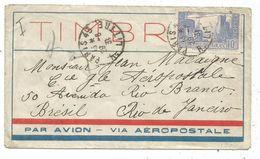 N°261 DECHIRE A L'EPOQUE SEUL LETTRE AVION AEROPOSTALE PARIS 29.8.1931 POUR LE BRESIL - Marcophilie (Lettres)