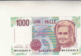 Banca D'Italia, Lire Mille Montessori  FDS  Perfetta - 1000 Lire