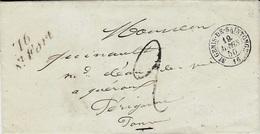 1850- Lettre Cursive De 16 / St Fort ( Charente Maritime )  / Cad T15 De St Genis-de-Saintonge + Taxe 2 D Tampon - 1849-1876: Periodo Clásico